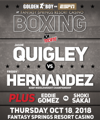 Jason Quigley vs Freddy Hernandez