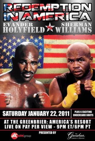 Evander Holyfield vs Sherman Williams