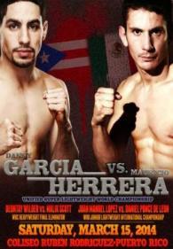 Danny Garcia vs. Mauricio Herrera Poster