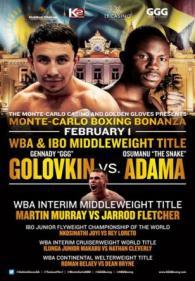 Gennady Golovkin vs Osumanu Adama poster