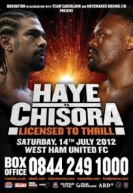 Licensed To Thrill: David Haye vs. Dereck Chisora Poster