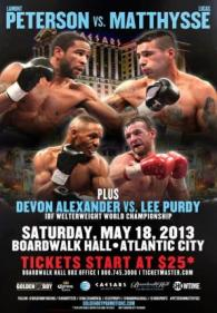 Lamont Peterson vs. Lucas Matthysse Poster
