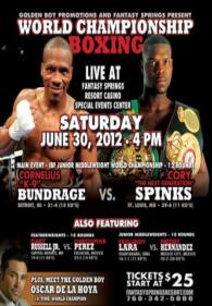 Cornelius Bundrage vs. Cory Spinks II Poster