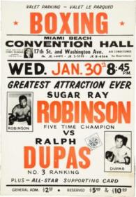Sugar Ray Robinson vs Ralph Dupas