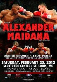 Devon Alexander vs. Marcos Maidana Poster