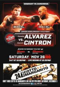 Saul Alvarez vs. Kermit Cintron Fight Poster