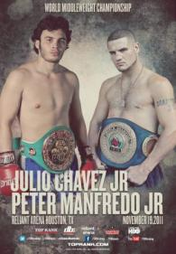 Julio Cesar Chavez Jr. vs. Peter Manfredo Jr. Fight Poster
