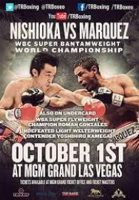 Toshiaki Nishioka vs. Rafael Marquez Fight Poster