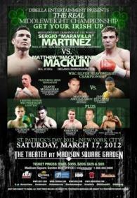 Sergio Martinez vs. Matthew Macklin Poster