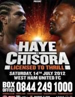 Licensed To Thrill: David Haye vs. Dereck Chisora Poster