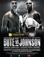Lucian Bute vs. Glen Johnson Fight Poster